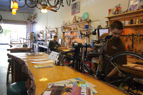 Anywhere Bike shop in Action