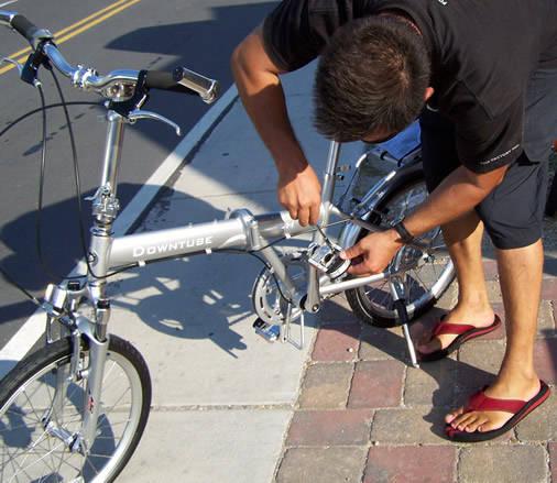 Tighten the star nut on pedals